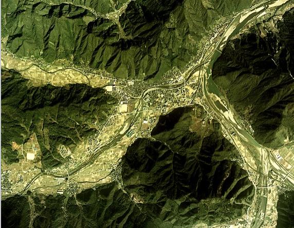兵庫県養父市の地図