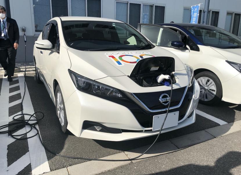 ごみ焼却で発生するエネルギーを電気に変換させ、電気自動車を用いて電力供給を可能にする「災害時給電サイクル」